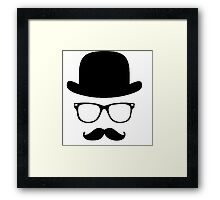 Moustache with hat couples Framed Print