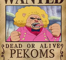 Wanted Pekoms - One Piece by yass-92