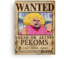 Wanted Pekoms - One Piece Canvas Print