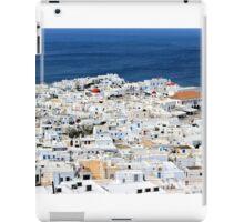 Bluer than blue, whiter than white iPad Case/Skin