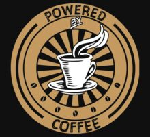 Funny Powered Coffee T-shirt by musthavetshirts