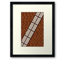 Wookie Win Chewbacca Pillow Framed Print
