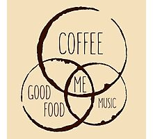 Coffee, good food & music! Photographic Print