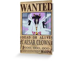 Wanted Caesar Clown - One Piece Greeting Card