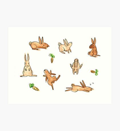 Bunnies! Art Print