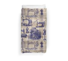 Vintage Sewing Toile Duvet Cover