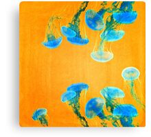Crazy Yellow Burning Jellyfish Canvas Print