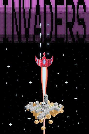 Pixel Invaders Print by MezzMerritt