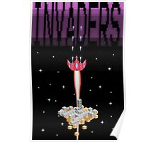 Pixel Invaders Print Poster