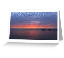 rays on the clouds Greeting Card