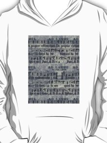 Grunge Music Score Pattern T-Shirt