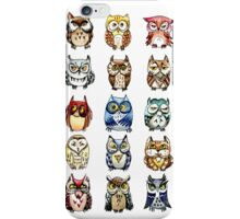 19 Owls and 1 Cat iPhone Case/Skin