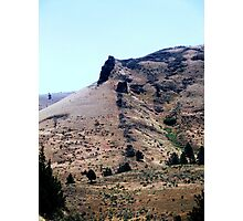 Central Oregon basalt lavaflows seeped out of cracks in rocks Photographic Print