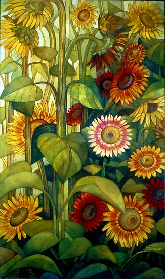 sunflowers by elisabetta trevisan