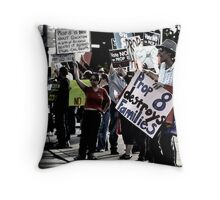 drive by shooting Throw Pillow