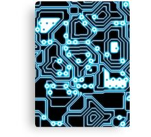 Electron - glowing circuits Canvas Print