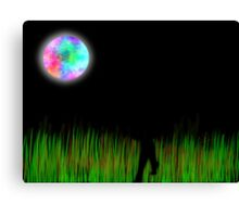 FOOTSTEPS IN THE NIGHT DIGITAL ART Canvas Print