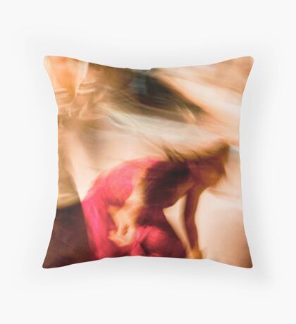Dancing colours Throw Pillow