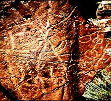 Pictographs or rock scratches by Dave Sandersfeld