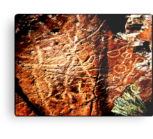 Pictographs or rock scratches Metal Print