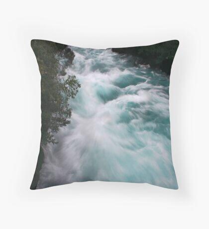 Blue Race Throw Pillow