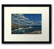 Sea at Mevagissey Framed Print