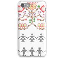 Traditional mosaic dance interpretation iPhone Case/Skin