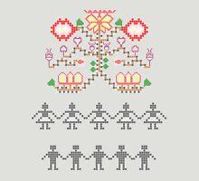 Traditional mosaic dance interpretation Unisex T-Shirt