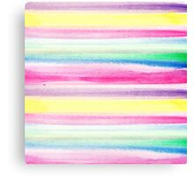 Modern abstract colorful watercolor stripe pattern Canvas Print