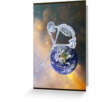 GLOBAL WARMING DIGITAL ART Greeting Card