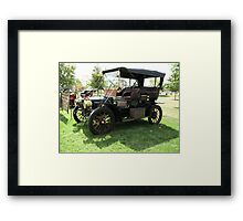 OFF TO THE PICNIC Framed Print