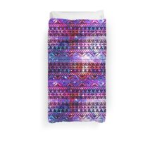 Girly Andes Aztec Pattern Pink Teal Nebula Galaxy Duvet Cover