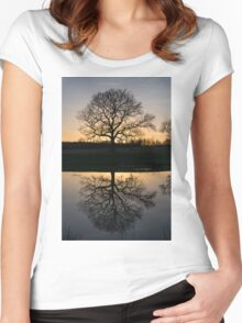 Mirror Tree Women's Fitted Scoop T-Shirt