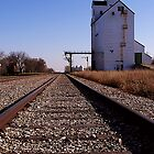 tracks by the elevator by Cheryl Dunning