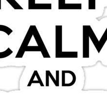 Keep Calm and Keep Flying (Black) Sticker