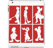 Kingdom Hearts - Character Roster (Red) iPad Case/Skin