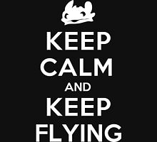 Keep Calm and Keep Flying (White) Unisex T-Shirt
