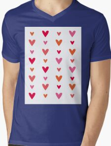 Floating Hearts Mens V-Neck T-Shirt