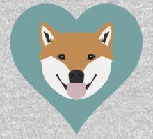 Shiba Love - Heart shiba inu funny dog for dog lovers pet gifts customizable dog meme dog person Kids Tee
