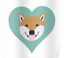 Shiba Love - Heart shiba inu funny dog for dog lovers pet gifts customizable dog meme dog person Poster