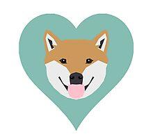 Shiba Love - Heart shiba inu funny dog for dog lovers pet gifts customizable dog meme dog person Photographic Print