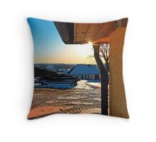 Sunny winter afternoon at the farm | landscape photography Throw Pillow