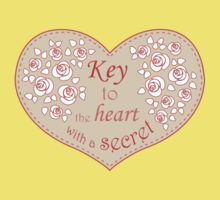 Heart, roses and keys. Kids Tee