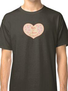 Heart, roses and keys. Classic T-Shirt
