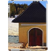 Chapel in winter scenery | architectural photography iPad Case/Skin
