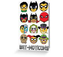 Bat-Moticons Greeting Card