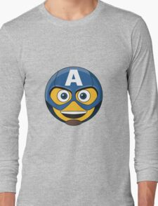 Captain A-Moticon Long Sleeve T-Shirt