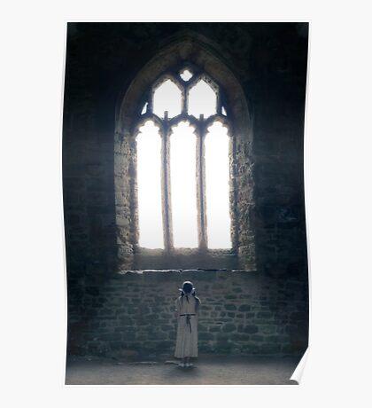 girl in church Poster