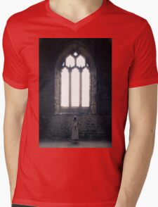 girl in church Mens V-Neck T-Shirt