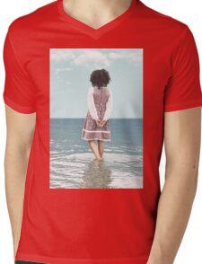 walking in water Mens V-Neck T-Shirt